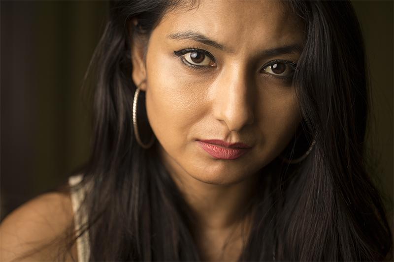 face shot of a caucasian woman
