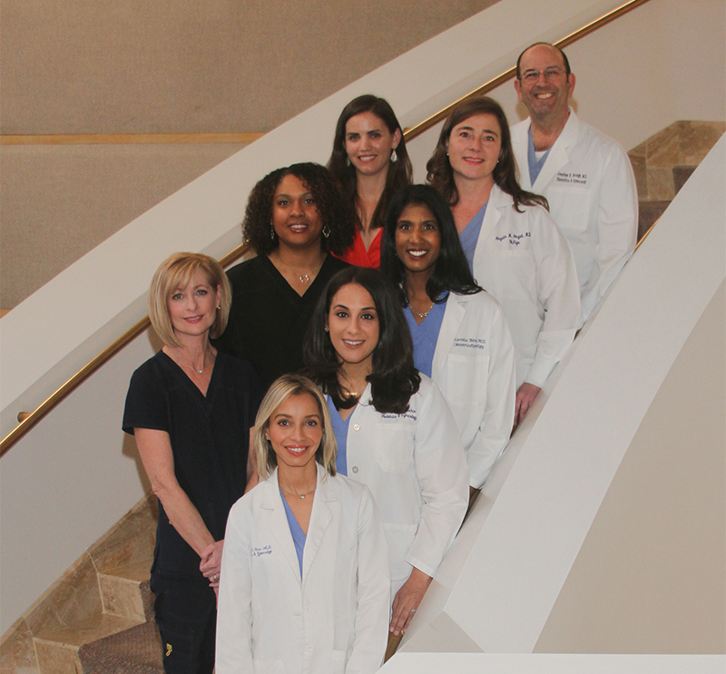 The group of OB/GYN physicians and staff at the Women's Health Specialists of Dallas