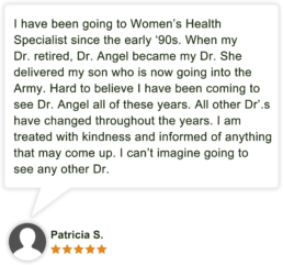 Dr Angela Angel Patient Review by Patricia S