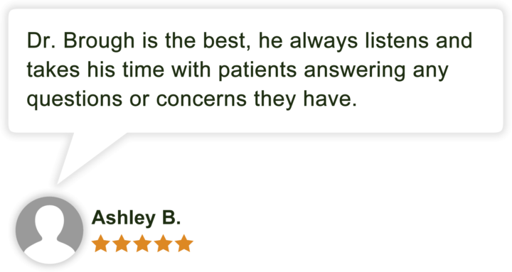 Dr Jonathan Brough Patient Review by Ashley B