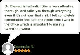 Dr Kavetha Blewett Patient Review by Cassandra R