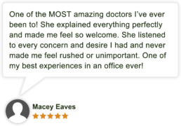 Patient review for Marianne Ebrahim